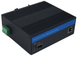 Gigabit Ethernet Industrial Grade Fiber Media Converter