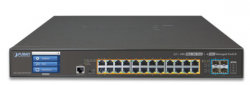 L2+ 24-Port 10/100/1000T Ultra PoE + 4-Port 10G SFP+ Managed Switch with LCD touch screen