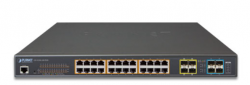 L2+ 24-Port 10/100/1000T Ultra PoE + 4-Port 10G SFP+ Managed Switch