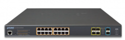 L2+ 16-Port 10/100/1000T Ultra PoE + 4-Port 100/1000X SFP + 2-Port 10G SFP+ Managed Switch
